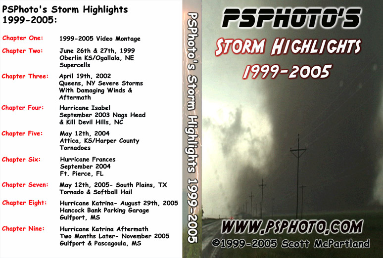 Storm Chase Highlights 1999-2005 DVD | Tornado Videos & Extreme Weather Highlights